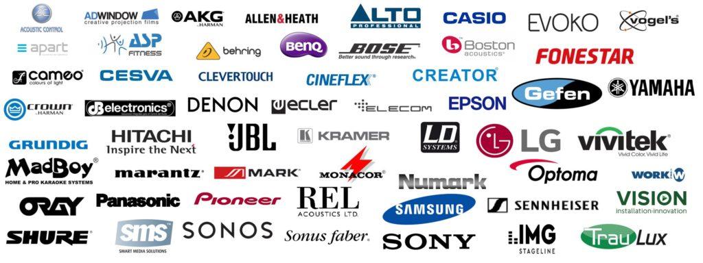 Marcas para nuestras Instalaciones e Integraciones Audiovisuales