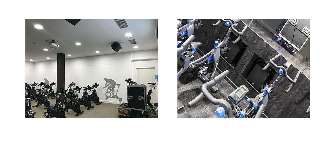 Instalaciones Audiovisuales para Gimnasios - Audiovisuales Mister MIx