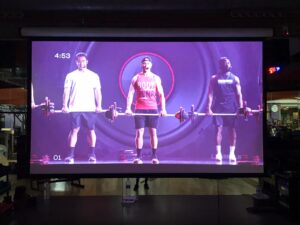 Instal·lació Audiovisual per Fitness Virtual. Audiovisuales MisterMix
