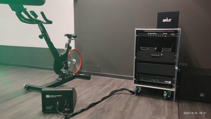 Spinning Virtual con Iluminación Espectacular. Audiovisuales Mister Mix