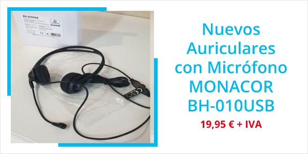 Auriculares MONACOR BH-010USB