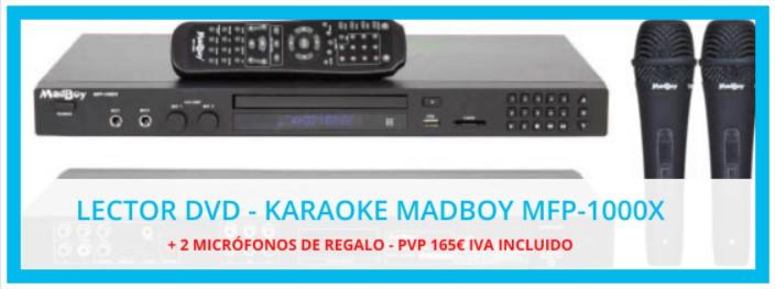 Oferta d'Equips Audiovisuals de Karaoke MADBOY