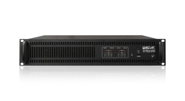 Amplificador Ecler HSA-4250 para Megafonía en Colegios. Audiovisuales MisterMix