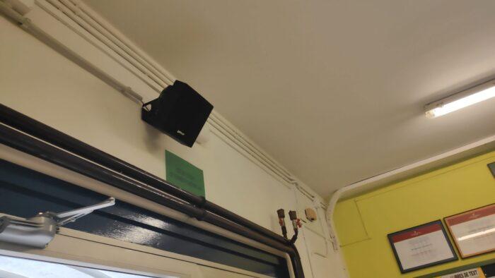 Instalación de Megafonía para Colegios. Audiovisuales MisterMix