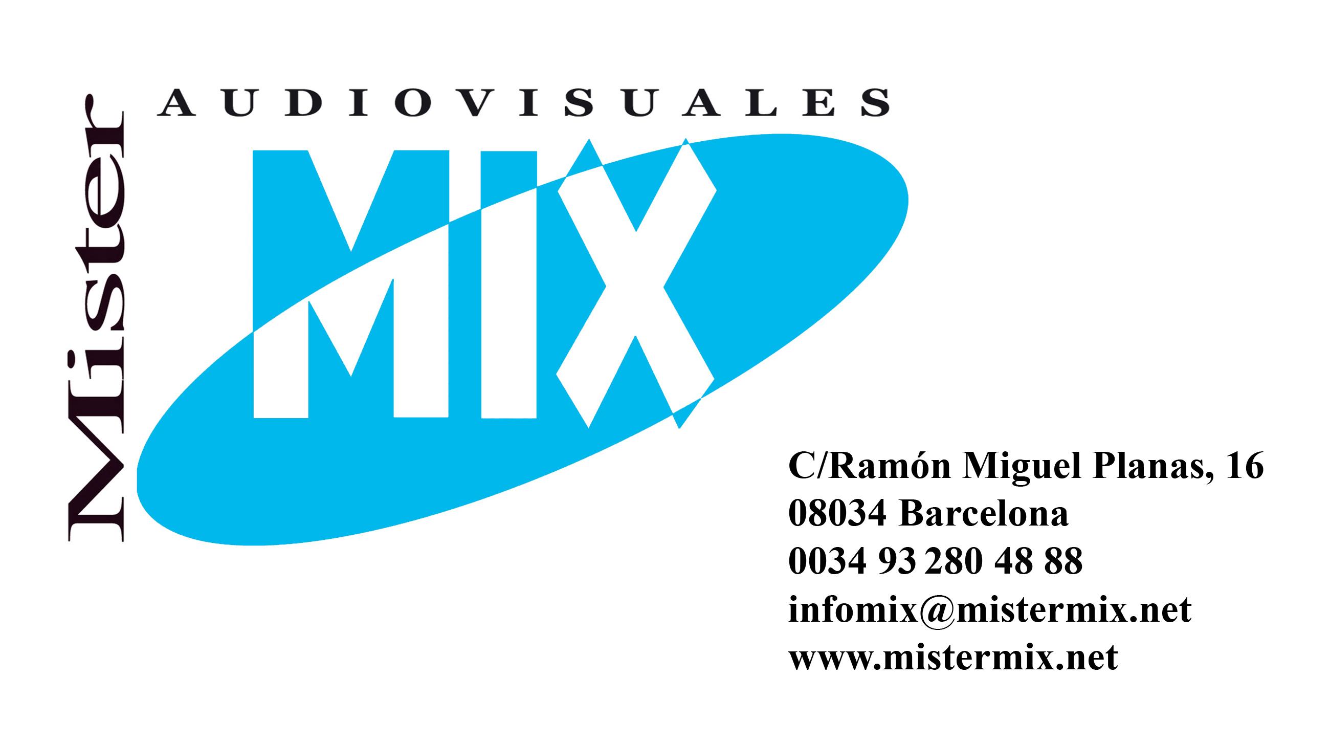 Contacte per a Instal·lacions Audiovisuals. Audiovisuales Mister Mix