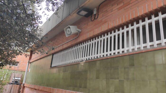 Instalación de Megafonía en Exteriores. Audiovisuales MisterMix