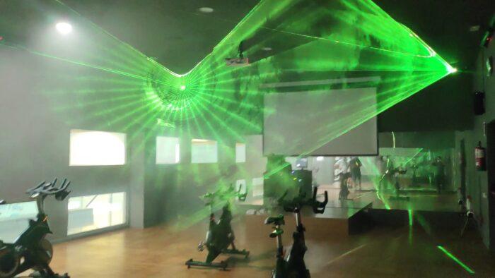 Reforma Audiovisual de Centre Esportiu. Làser Verd
